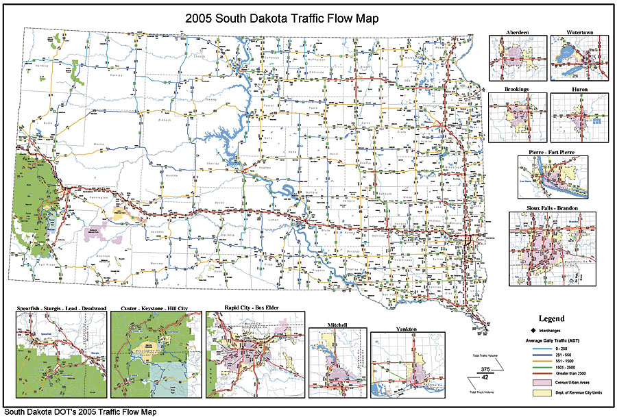 ArcNews Summer Issue GIS And GPS Integration Eases Public - South dakota road map