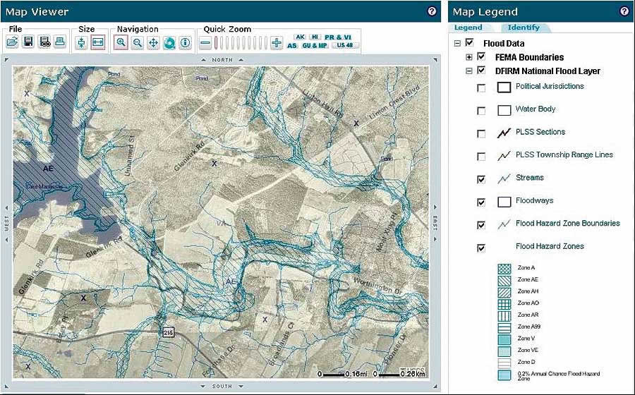 Flood Map Modernization At The US Federal Emergency Management - Map layers for us arcgis