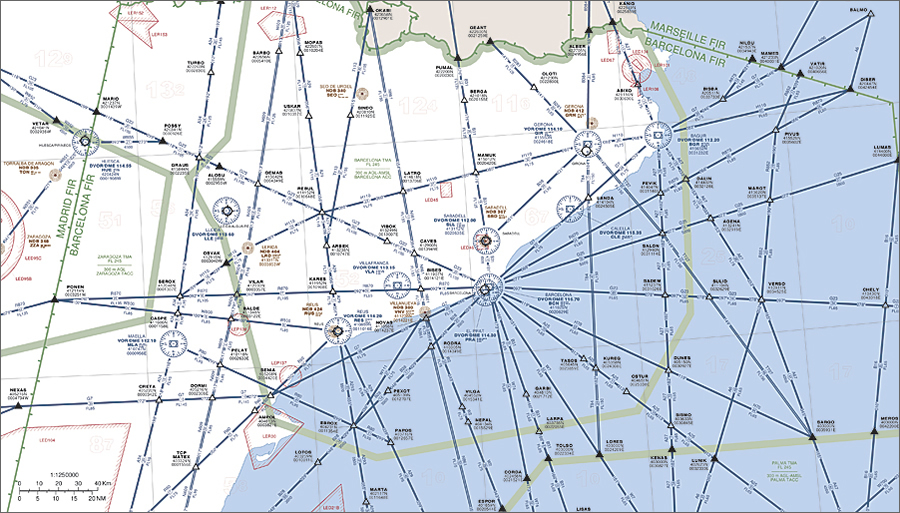Aeronautical Charts With Detailed Information For Instrument Flight