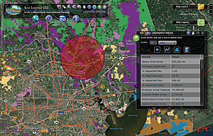 The Eco Logical GIS mapping tool, see enlargement