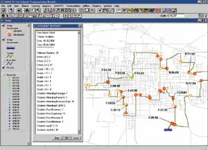 Esri News - Winter 2000/2001 ArcNews -- School Bus Routing