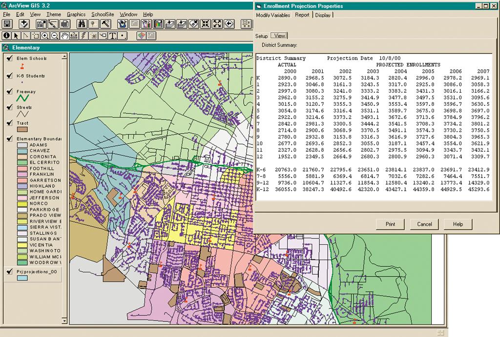 GIS Helps Plan for K-12 Enrollment