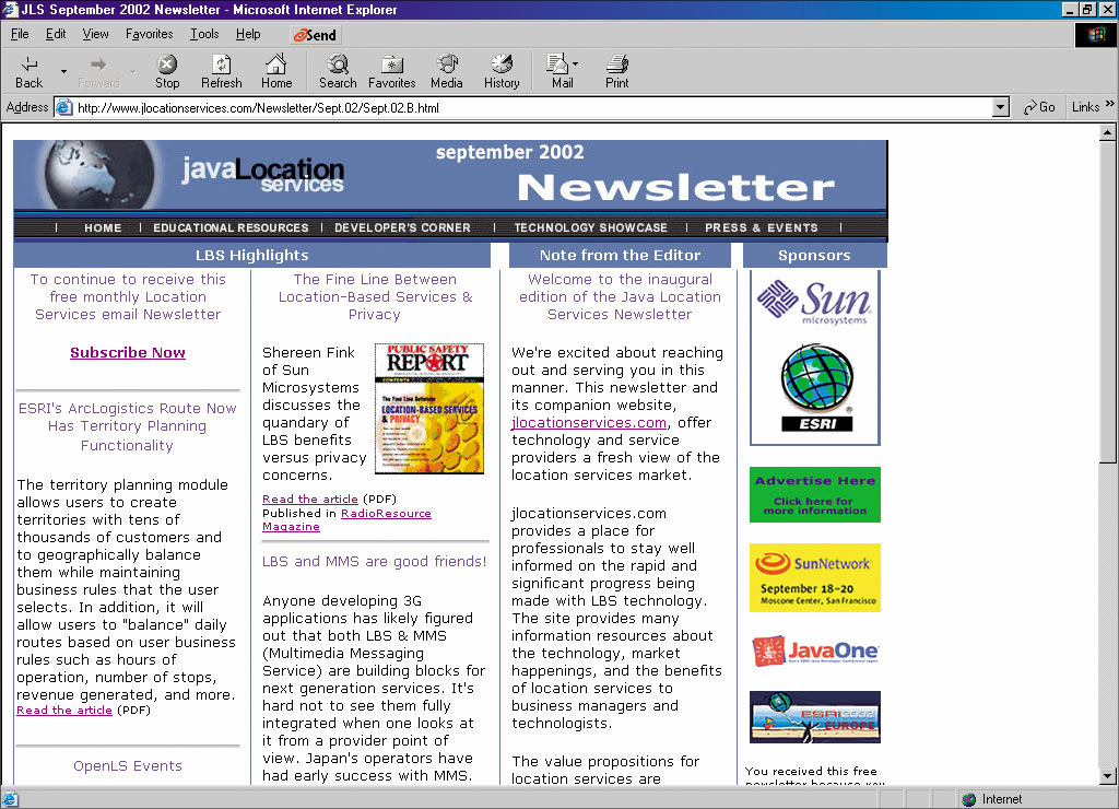 Newsletter writing service in java