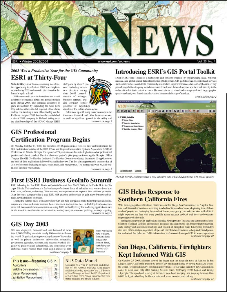 Welcome to arcnews winter 20032004 arcnews cover click to see enlargement xflitez Gallery