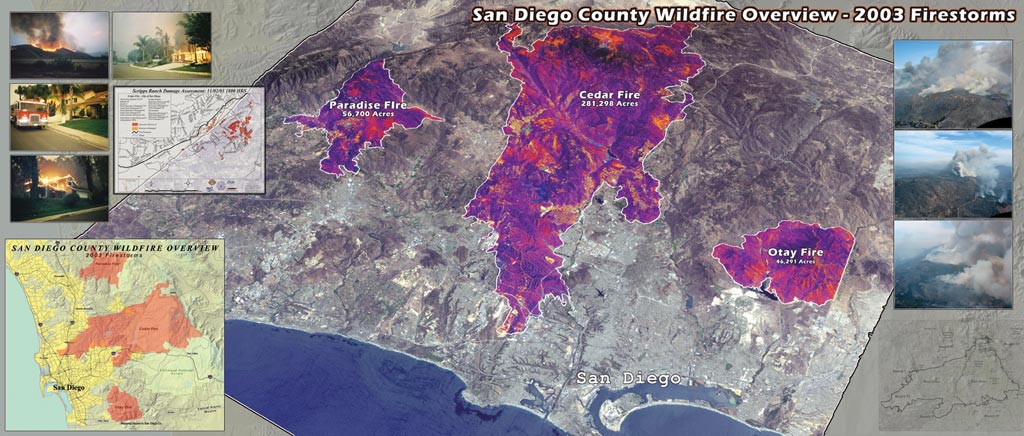 ArcNews Winter Issue San Diego California - Cedar fire map