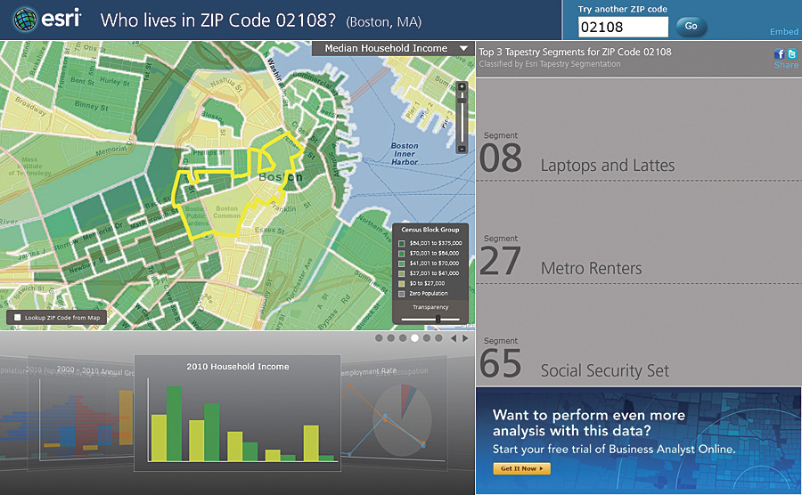 Free ZIP Code Lookup Gives the Scoop on Any Area in the United ... Demographics Map By Zip Code on