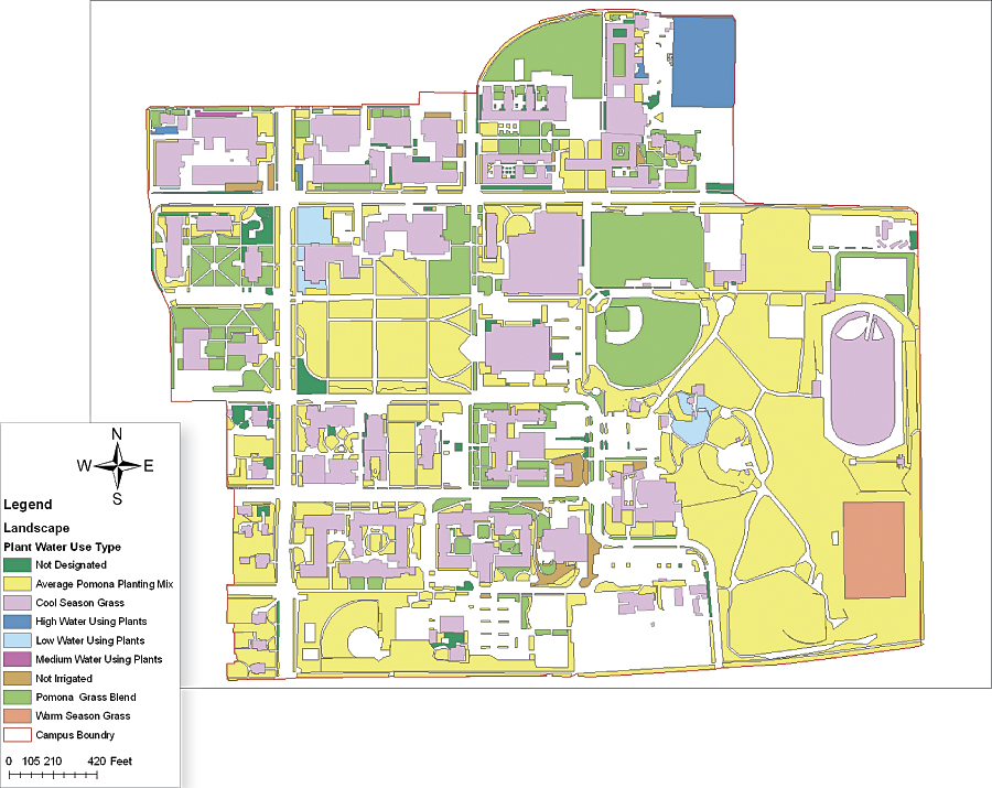 Pomona College Campus Map Going Green at Pomona College | ArcNews Winter | 2010/2011 Issue