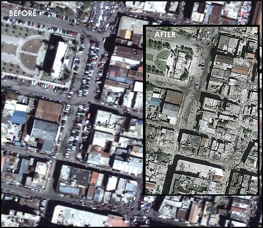Haiti Earthquake Before And After