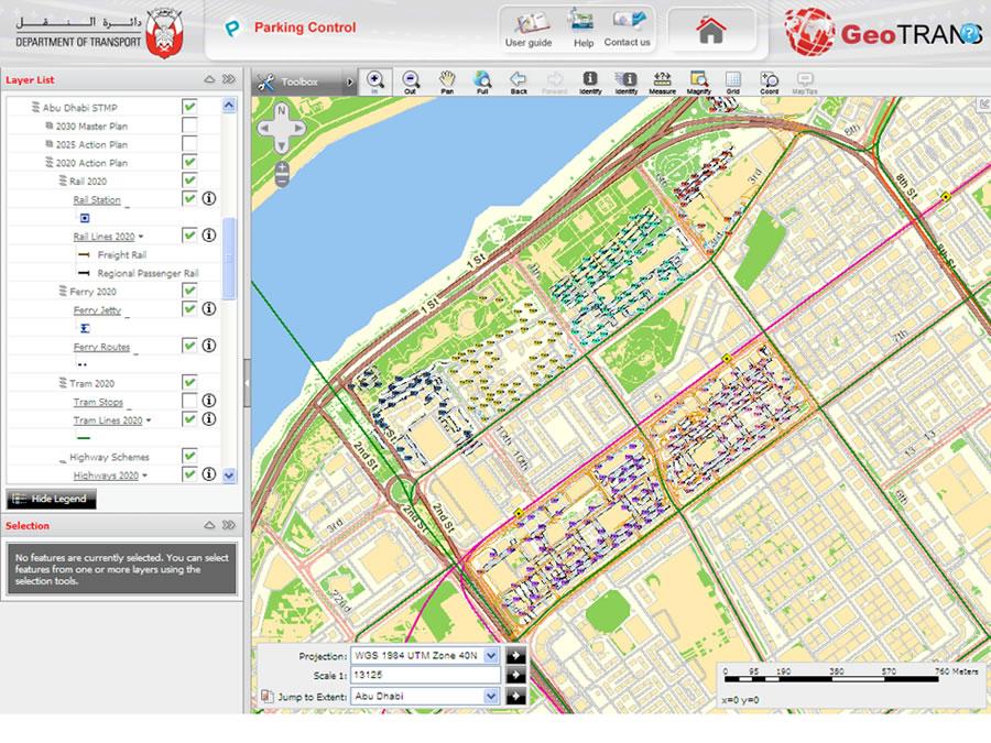 Abu Dhabi DOT Deploys Enterprise GIS To Serve Transportation Plans - Bus map abu dhabi