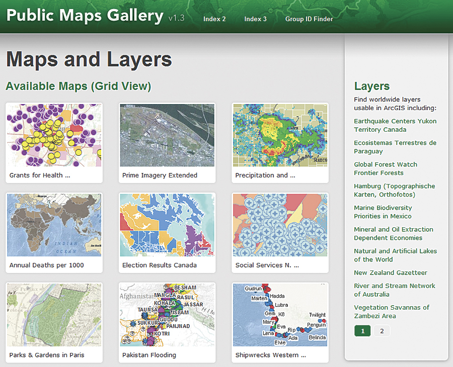 the public maps gallery template is designed for arcgis online users who want to showcase their
