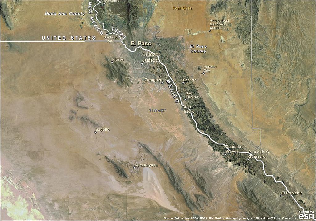 The Us Mexico Border Follows The Vagaries Of The Rio Grande