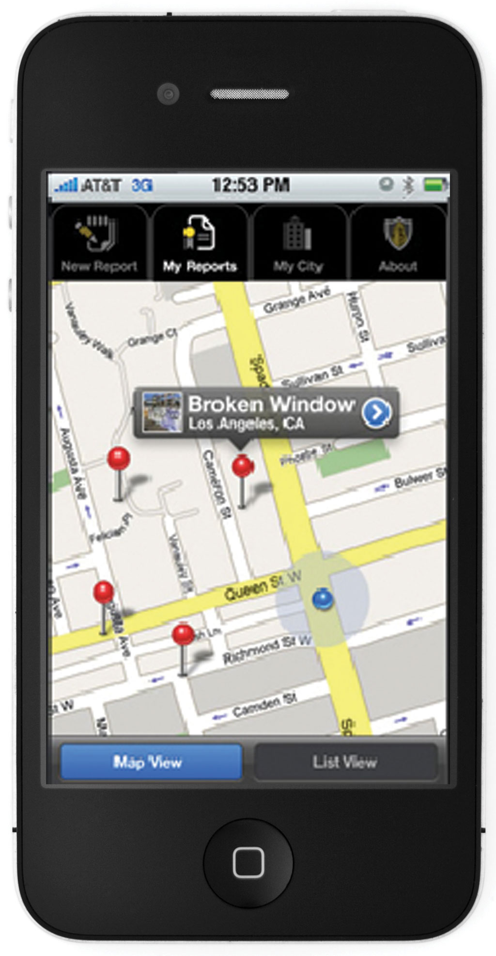 Smartphone App Aids Districts Facilities Maintenance - Los angeles unified map