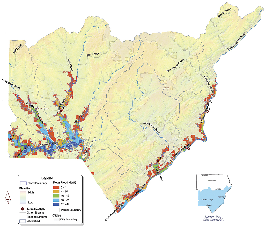 Cobb County Uses GIS to Get Answers Quickly During a Flood on usa flood map, colorado flood map, nd flood map, dc flood map, uk flood map, michigan flood map, nj flood map, ky flood map, new york flood map, new jersey flood map, savannah flood map, al flood map, nh flood map, wv flood map, california flood map, florida flood map, washington flood map, tx flood map, atlanta flood map, cs flood map,