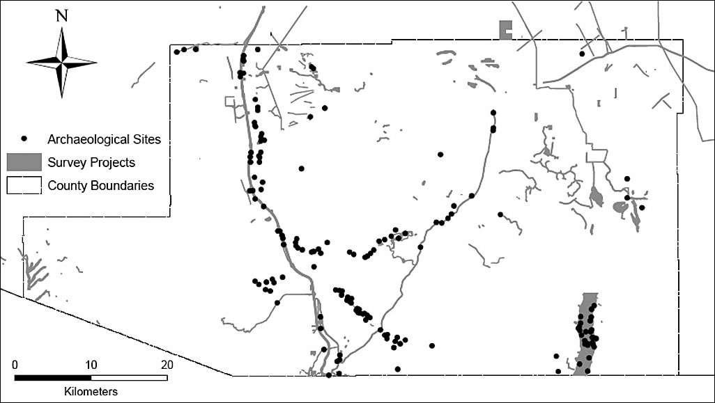 Understanding Past And Future Land Use - Archaeological sites in the southwest us map