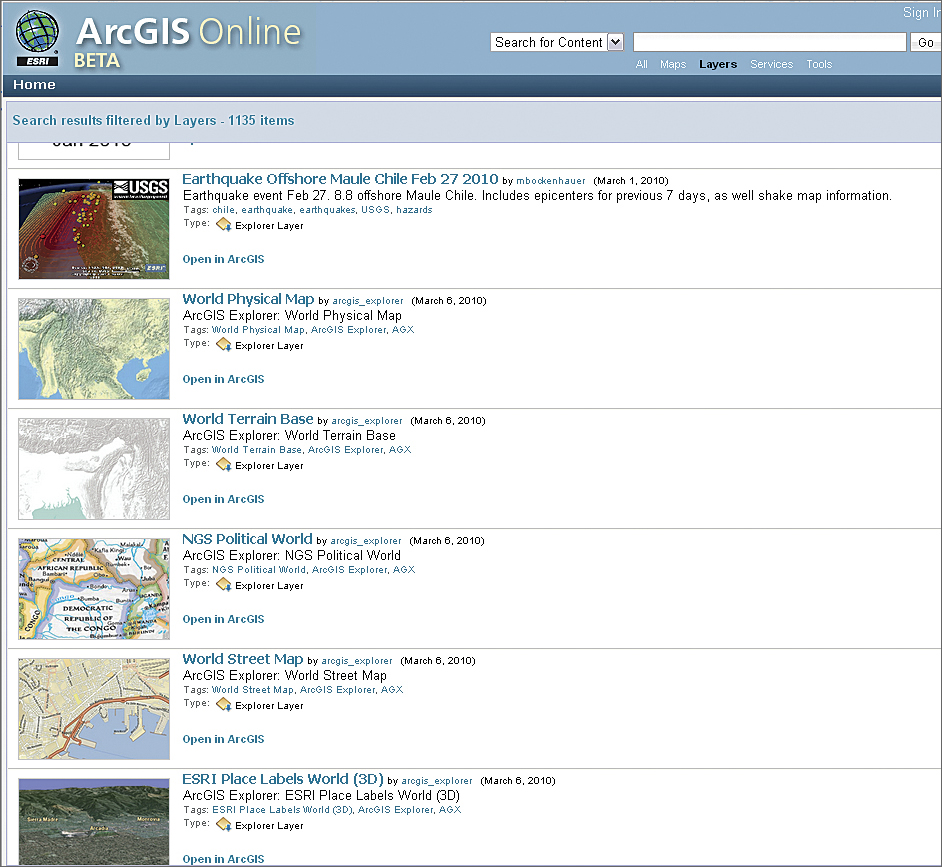 Making map content more usable arcgis online web site xflitez Gallery