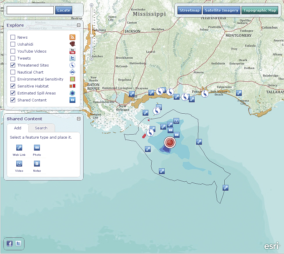 Getting in touch with volunteered geographic information esris gulf of mexico oil spill map freerunsca Gallery