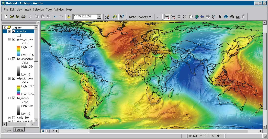Mean Sea Level GPS And The Geoid - Altitude above sea level map