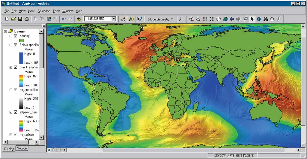 Water Elevation Map.1 Mean Sea Level Gps And The Geoid