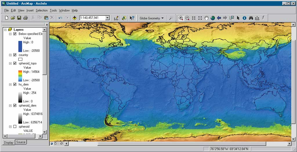 2 mean sea level gps and the geoid this map shows the hypothetical approximate delineation of landmass and ocean based on a spherically shaped earth which assumes that the current relief gumiabroncs Images