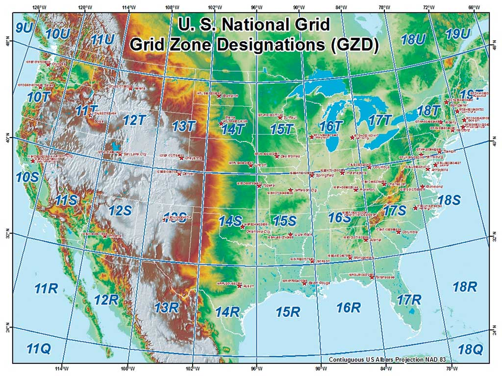 Introducing The United States National Grid - What map data to use with utm in us