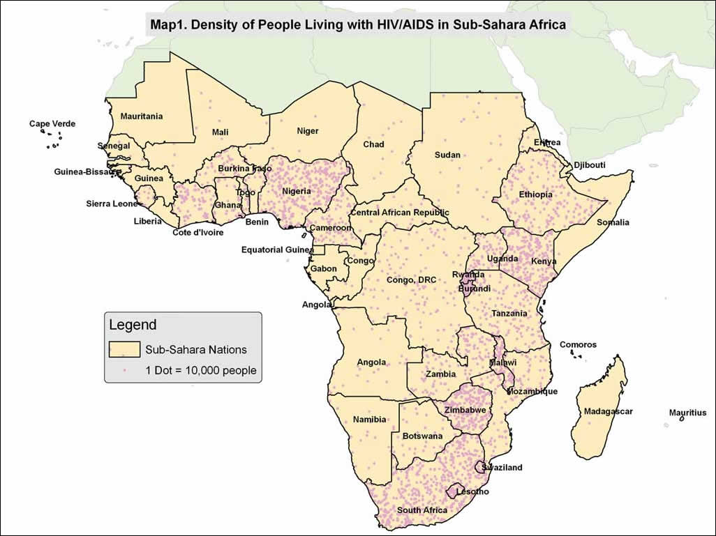 sub saharan africa map political