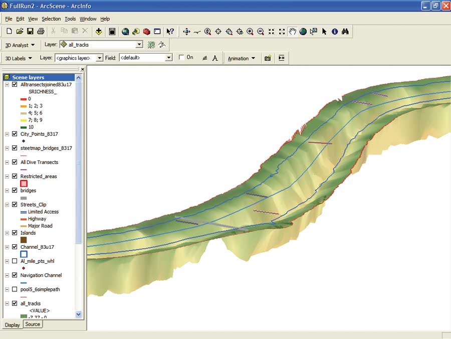 A Unique Approach To Bathymetry Mapping In A Large River System - Lake mapping software