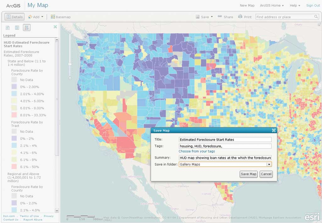 Use ArcGIS Online To Manage Your Own Custom Map Gallery - Map layers for us arcgis