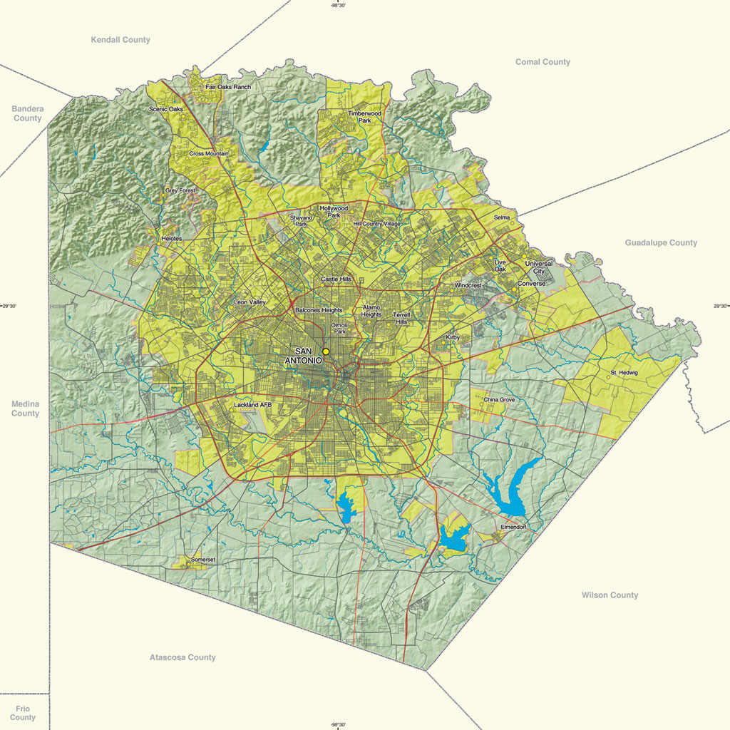 Site Offers GIS Resources For Texas Counties - Map of texas counties