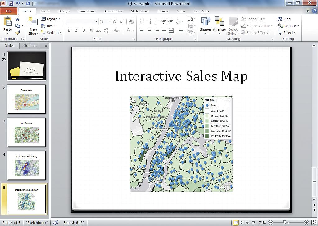 Information through a Map Lens