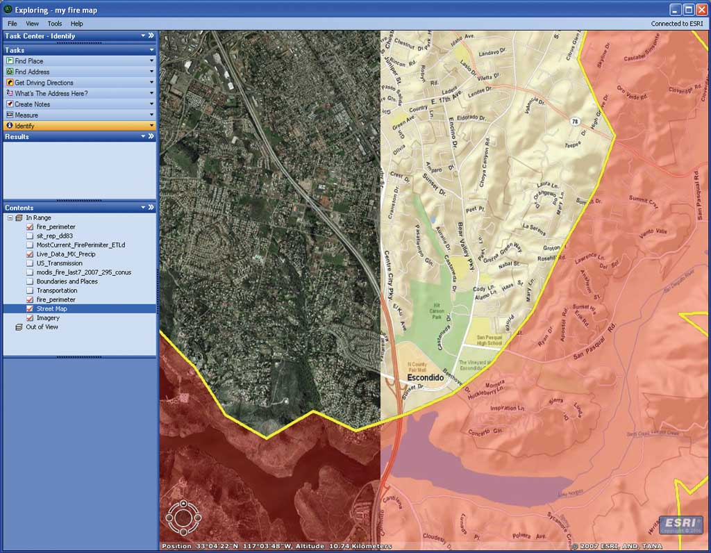 Arcgis Explorer Was Used During The 2007 Fires To Provide Both Greater Visualization Capabilities And Online Access To Current Basemap And Fire Data