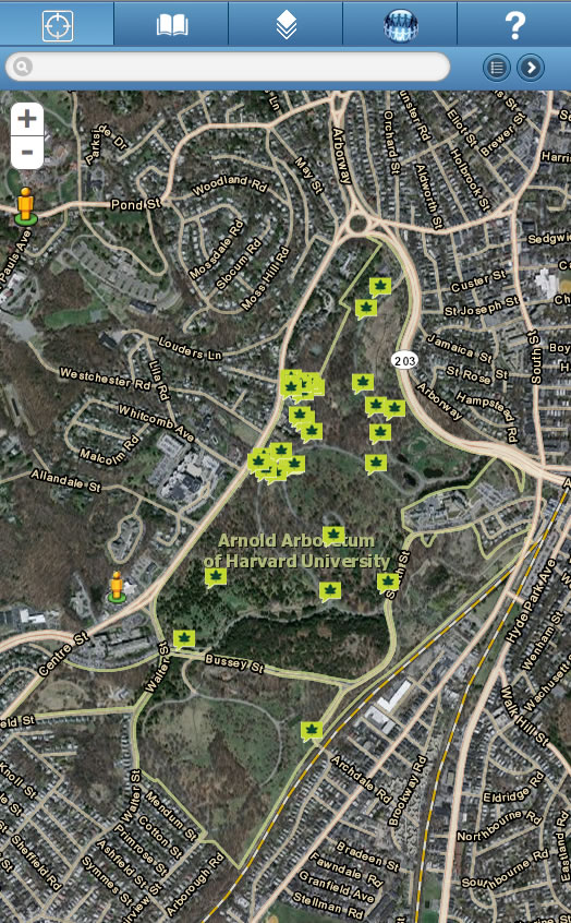 Arnold Arboretum Uses Mobile Mapping To Increase Access To - Map of harvard university