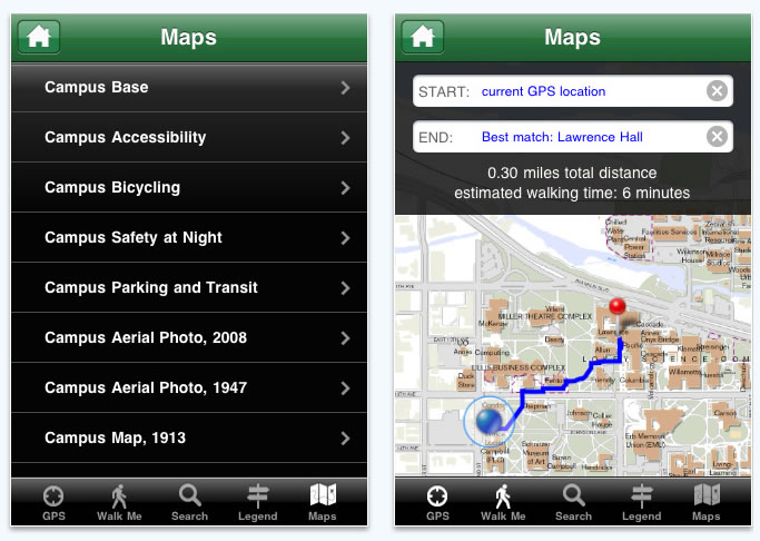 Esri ArcWatch February 2011 - Campus iPhone App Helps University of ...