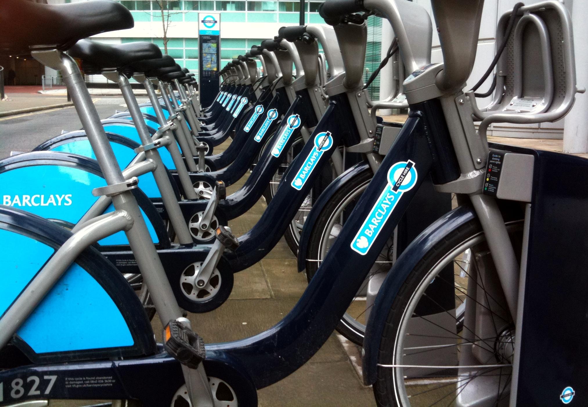 Bicycle rental statistics in the UK?