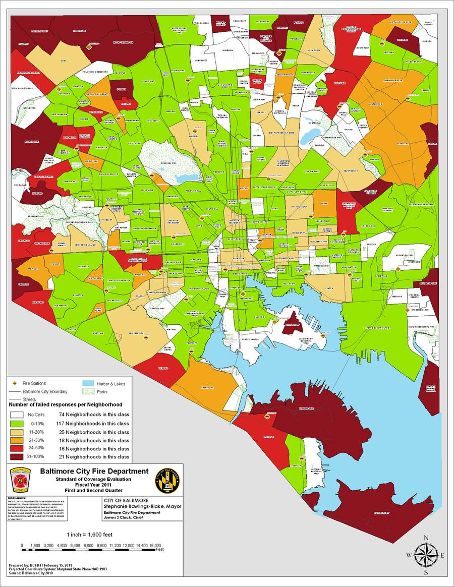 Esri Arcwatch April 2011 Baltimore City Fire Department Maximizes