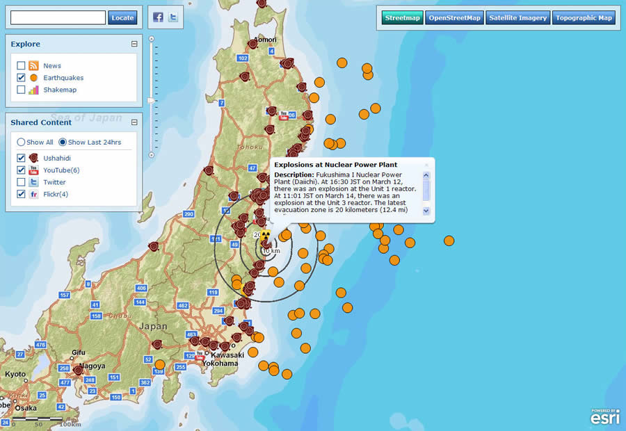 Esri ArcWatch April Understanding Japans Earthquakes From - Japan map latitude and longitude