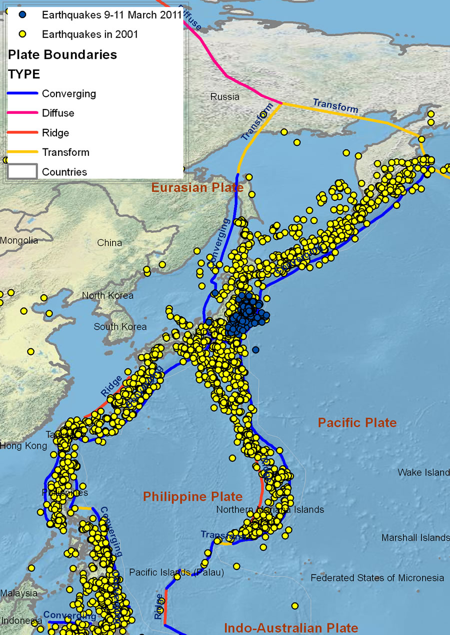 Esri ArcWatch April 2011 - Understanding Japan's Earthquakes from a on map of nuclear, map of japan 1941, map of japan flooding, map of hanukkah, map of japan typhoon, map of ebay, map of noaa, map of japan volcano eruption, map of shark finning, map of halloween, map of tsunami, map of chanel, map of new madrid fault zone, map of japan in english, map of thanksgiving, map of diwali, map of mitt romney, map of environment, map of japan cities, map of japan hawaii,