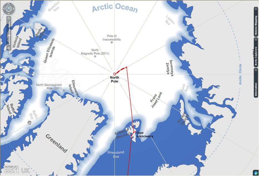 Esri ArcWatch May 2011  Mapping an Arctic Adventure