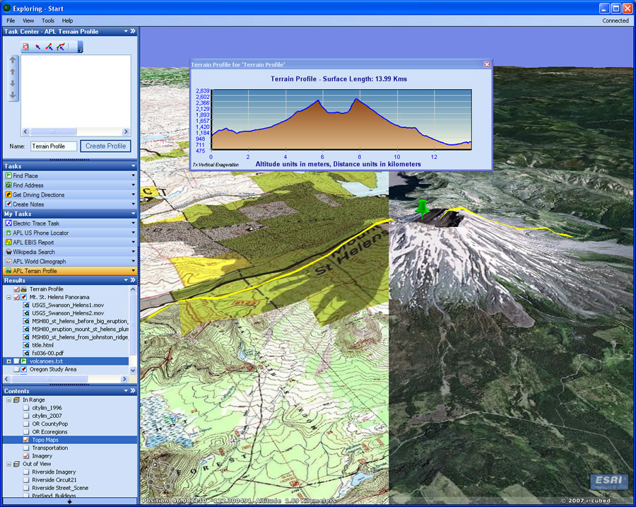 Esri arcwatch june 2007 arcgis explorer brings gis to everyone click to enlarge gumiabroncs Gallery