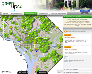 Existing projects are mapped so users can identify other projects installed in the neighborhood.