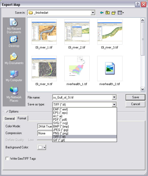 Esri ArcWatch July 2008 - Tip of the Month: Export Maps for