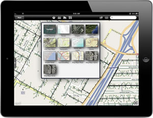 ArcGIS for iOS users can use a variety of ArcGIS Online basemaps for viewing data.