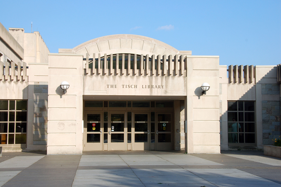The Tisch Library On The Campus Of Tufts University In Medford,  Massachusetts.