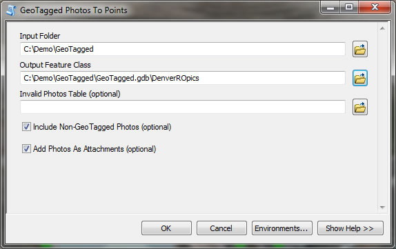 Import Geotagged Photographs into ArcMap | ArcWatch