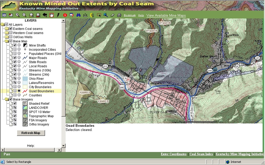 click to enlarge The Kentucky Mine Mapping