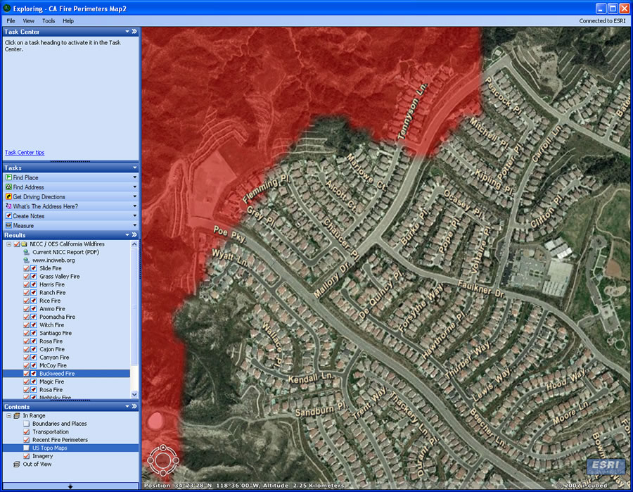 GIS Helped Multiple Agencies Respond to Southern California Fires