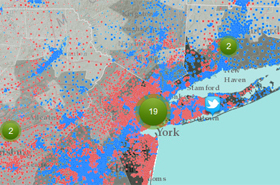 Superstorm Sandy Election Imapct Map