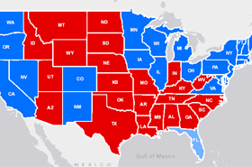 Presidential Election Interactive Maps Featured Esri Maps - Picture of a us presidential electoral map
