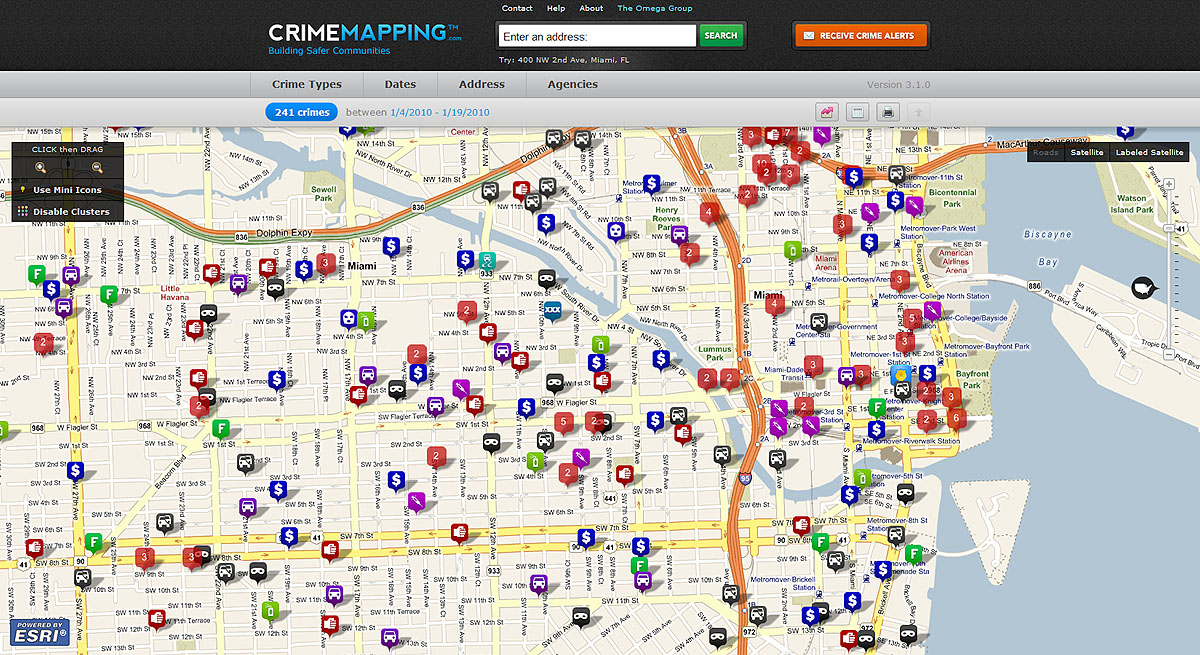 Omega Group Deploys Esri Technology for Its Crime Mapping Site on computerized crime mapping, map crime mapping, historical gis, gis and hydrology, crime prevention, crime analysis, gis crime-fighting, traditional knowledge gis, uniform crime reports, routine activity theory, geographic information system, police crime mapping, white-collar crime, remote sensing application, benefits of crime mapping, geographic profiling, fixing broken windows, gis applications,