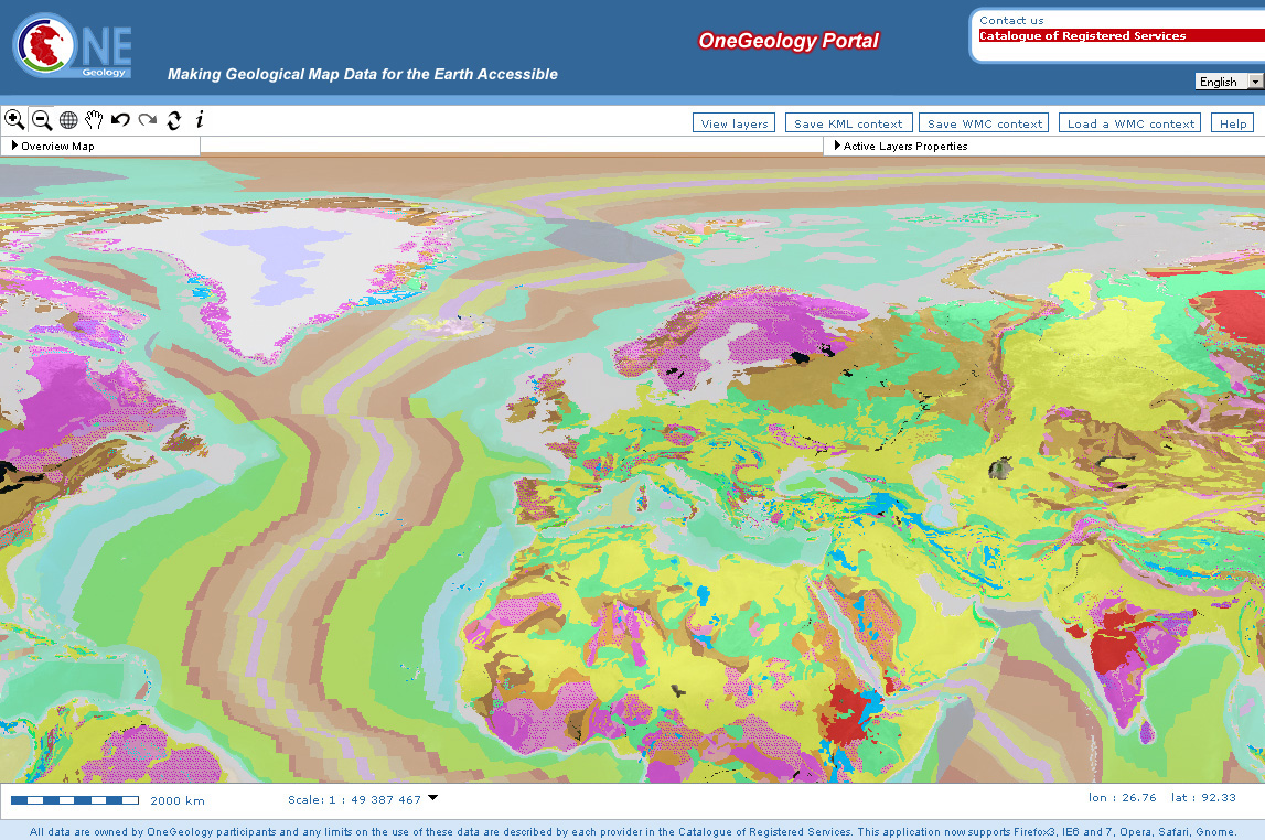 Geologic Map Of Europe.Access To World S Geological Data Improved With Arcgis Server Technology