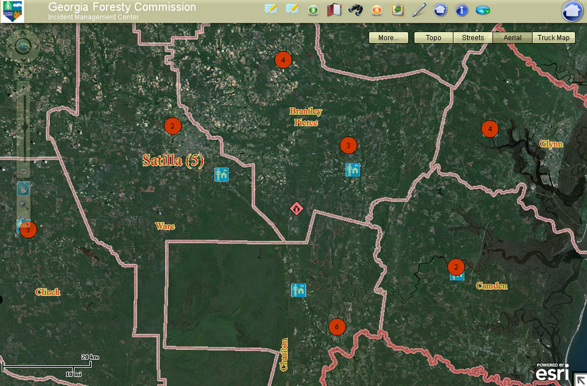 Map Of Georgia Fire.Forestry Commission Improves Smoke And Fire Management
